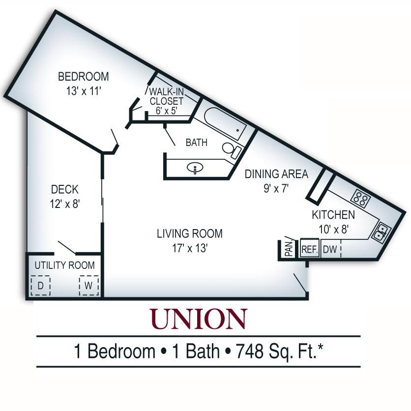 Dallas, Texas Apartment Home Floor Plans - Windsor Station Rental